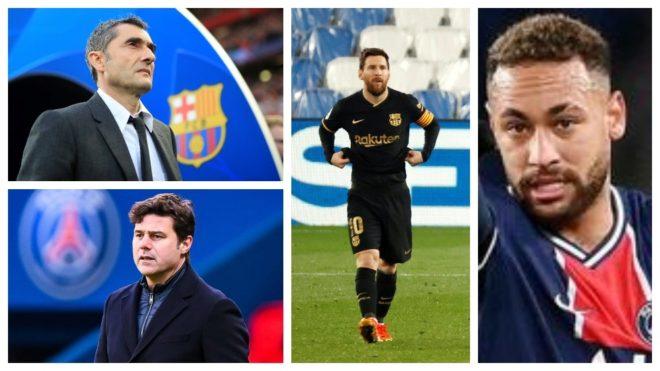 Messi, Pochettino, Valverde y Neymar, con el Barça como epicentro.