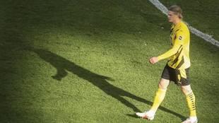 Haaland, en un partido con el Borussia Dortmund.