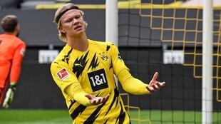 El delantero del Borussia, Haaland