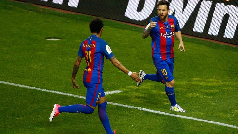 Neymar y Messi, con el Barcelona