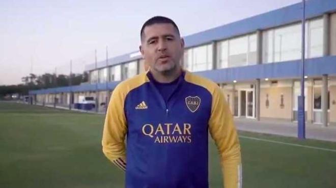 Juan Román Riquelme y un vídeo corto para los hinchas de Boca