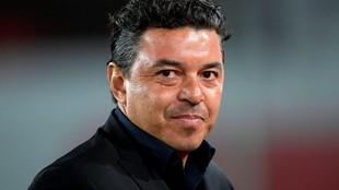 Marcelo Gallardo, durante el partido.