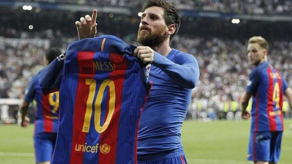 Icónica celebración de Leo.
