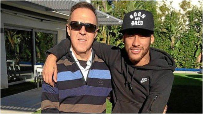 Wagner Ribeiro y Neymar, en la época en la que trabajaban juntos.