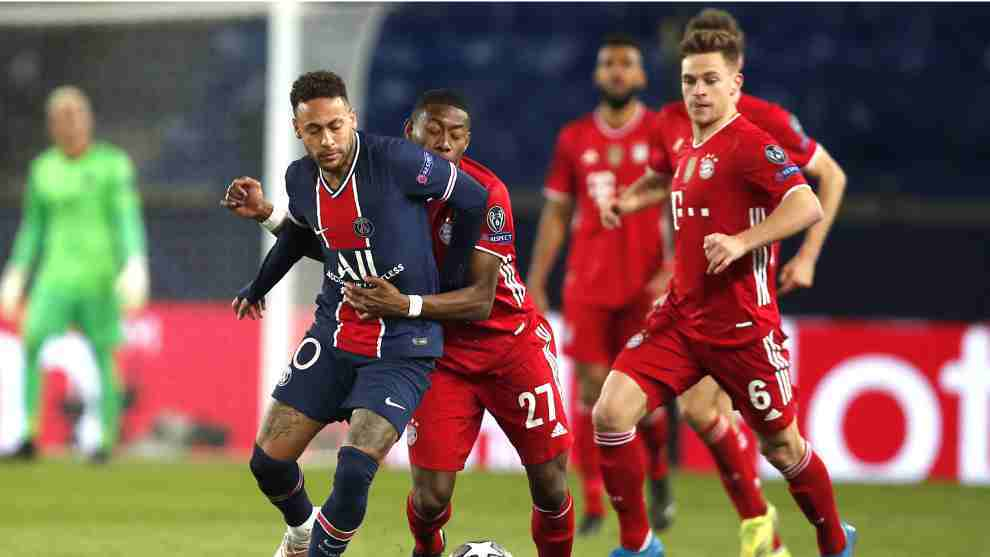 Cuartos de final de la Champions League entre PSG y Bayern en París.