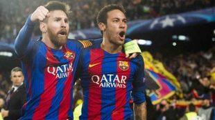 Messi y Neymar, otros tiempos.
