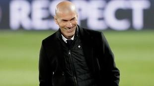 Zidane, durante el partido.