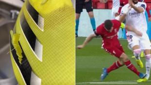 La entrada de Milner a Benzema y el estado en que quedó su bota