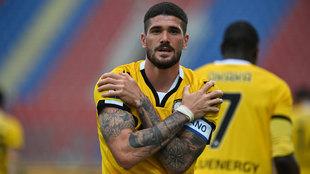 De Paul celebra uno de sus goles ante el Crotone