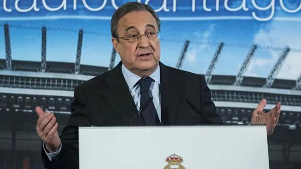 Florentino Pérez, en un acto del Real Madrid