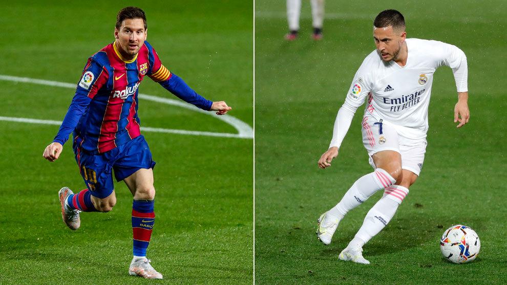 Leo Messi y Eden Hazard