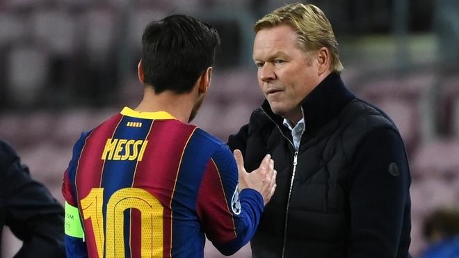 Messi y Koeman.