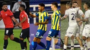 Victorias de Independiente, Central y empate de Talleres.