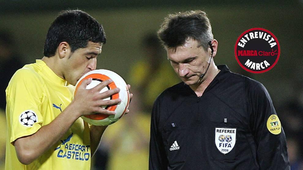 Semifinal de Champions League entre el Villarreal y el Arsenal en...