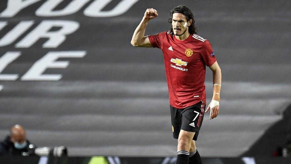 Edinson Cavani, jugador del Manchester United