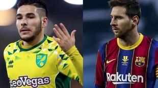 Buendía y Messi.