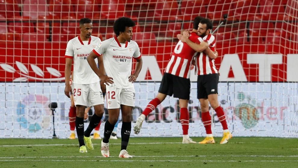 El Athletic celebra el tanto del triunfo