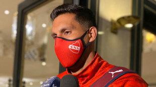 Insaurralde habla con los medios a su llegada a Argentina