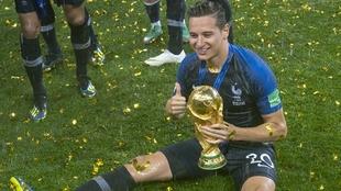Florian Thauvin fue campeón del mundo con Francia en Rusia 2018