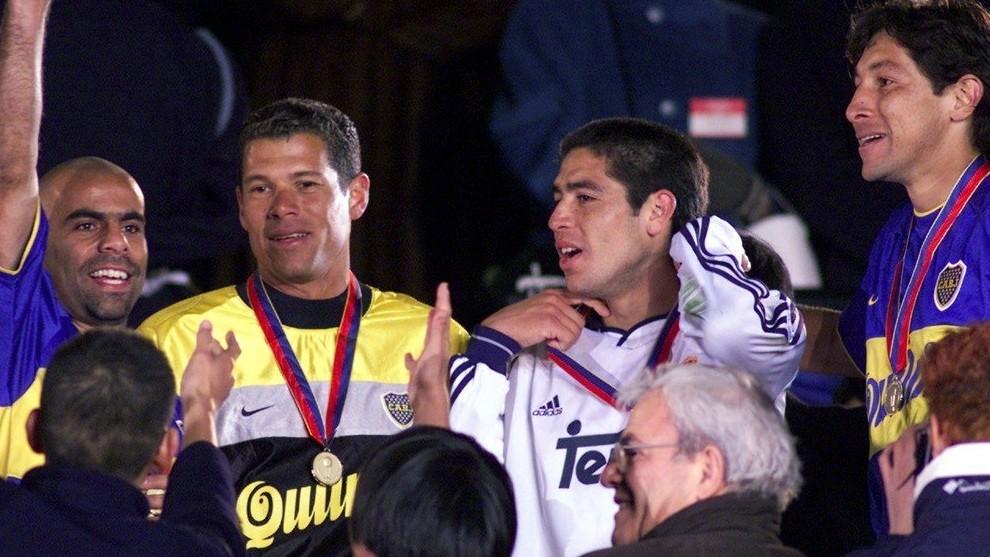 Serna, Córdoba, Riquelme y Bermúdez, durante la premiación.