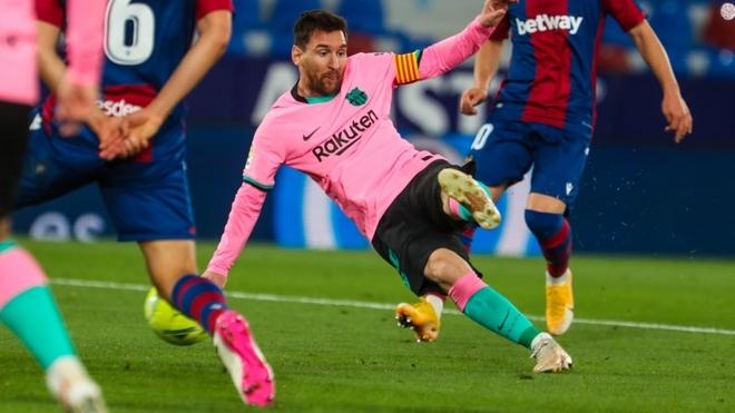 Leo Messi, goleador del Barcelona en la temporada