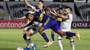 Boca perdió 1-0 ante Santos en Brasil