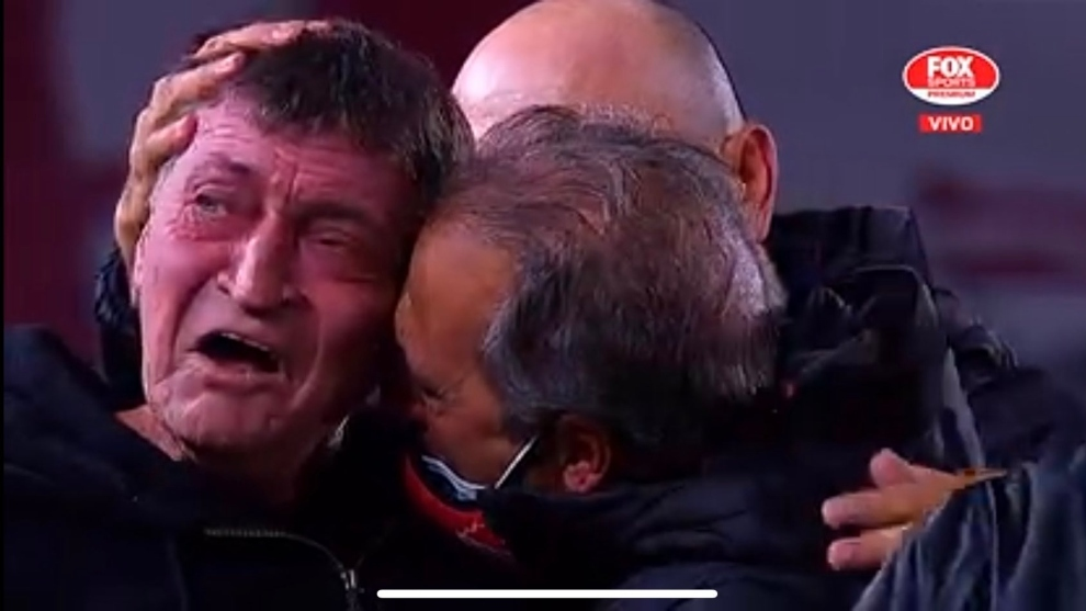 El llanto del final, tras lograr la victoria en una semana durísima.