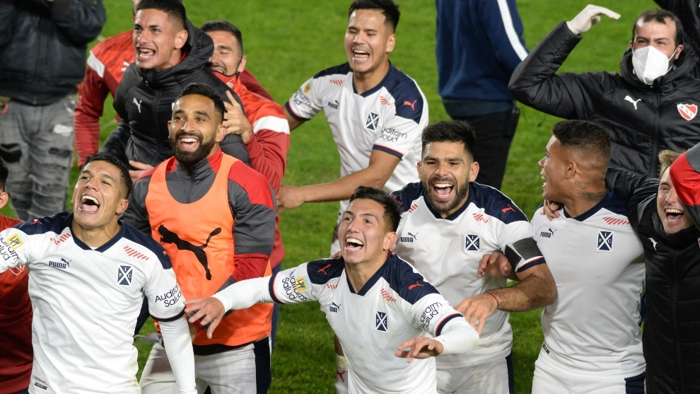 El festejo de los jugadores.