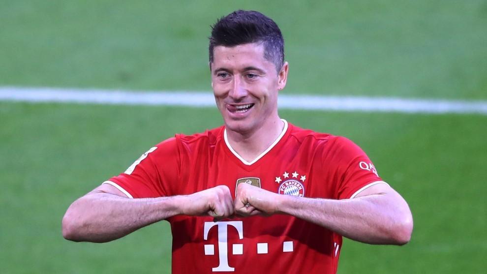 Lewandowski, delantero del Bayern de Munich