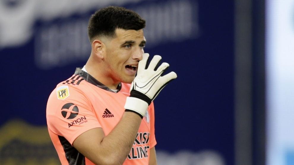 Leo Díaz, durante el partido.