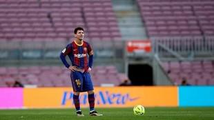 Leo Messi con el Barcelona.