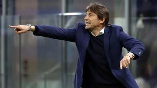 El entrenador Antonio Conte