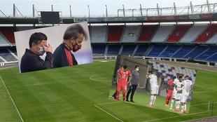 Los dos momentos que se vivieron durante la Copa Libertadores en...
