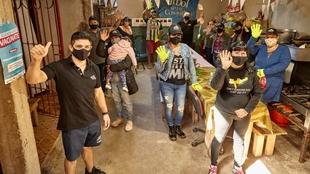 Molinari en La Matanza, tras la donación de 31.000 kilos de revoque...