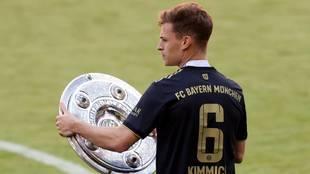 Kimmich, en la celebración del último título de la Bundesliga del...