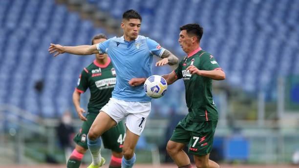 Joaquín Correa (26) en un partido con la Lazio.