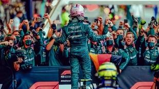 Sebastian Vettel fue segundo en Azerbaiyán