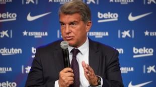 Joan Laporta es optimista con Messi.