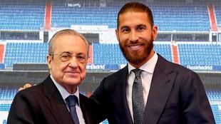 Florentino posa con Sergio Ramos.