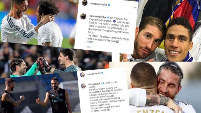 Los compañeros se vuelcan con Ramos en las redes sociales.