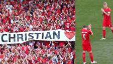 Homenaje a Eriksen en el minuto 10 del Dinamarca vs Bélgica.