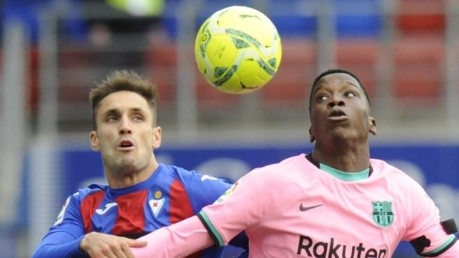 Ilaix Moriba, en un partido del FC Barcelona.