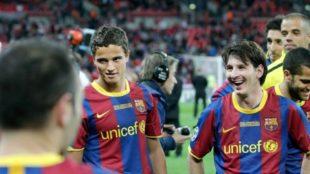 Ibrahim Afellay en su etapa como jugador del Barcelona