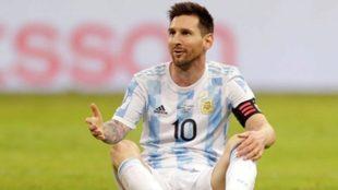 Leo Messi, figura contra Uruguay.
