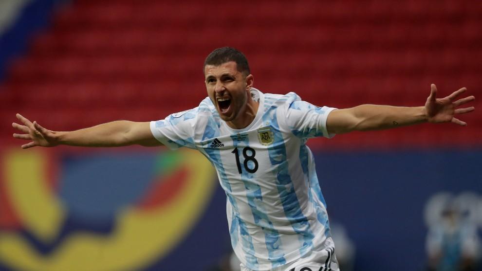 Guido Rodríguez, jugador de la selección argentina