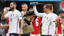 Benzema y Griezmann con Francia