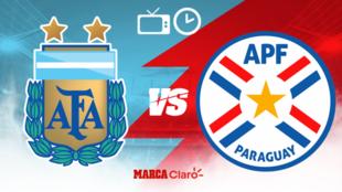 Partido en vivo: Argentina vs Paraguay; jornada 3 del Grupo A de la...