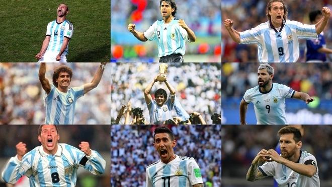 Nueve de los diez jugadores argentinos que más jugaron con la...