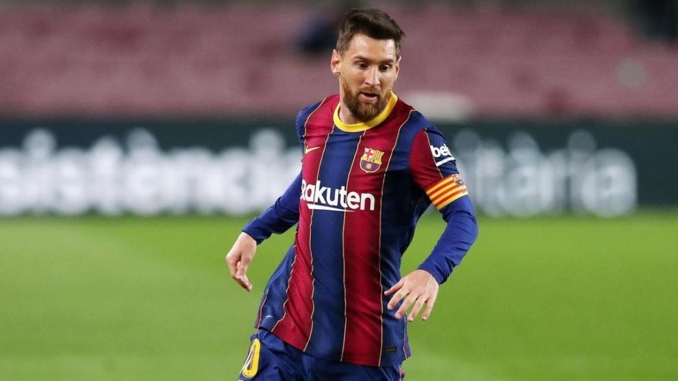 Leo Messi (33) en un partido con el FC Barcelona.