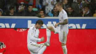 Ramos y Kroos en un partido con el Real Madrid.